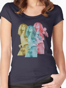 Tri Color Plant Women's Fitted Scoop T-Shirt