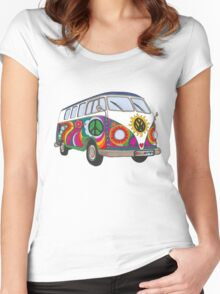 Psychedelic Kombi Women's Fitted Scoop T-Shirt