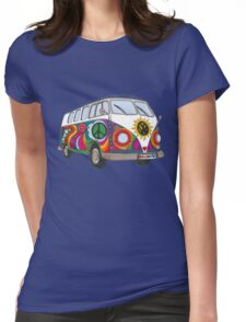 Psychedelic Kombi Womens Fitted T-Shirt