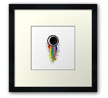 Colour eye spot Framed Print