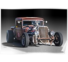 1933 Ford PU Rat Rod Poster