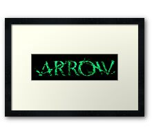 Arrow tv series Framed Print