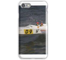 Model speedboat racing , offshore . iPhone Case/Skin