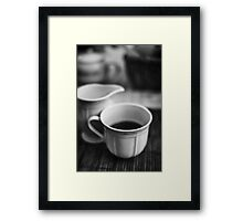 Still life with tea Framed Print