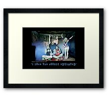 Donald Trump LOVES US. Framed Print