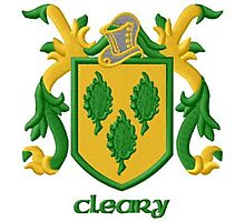 Cleary/Ó Cléirigh family crest Photographic Print