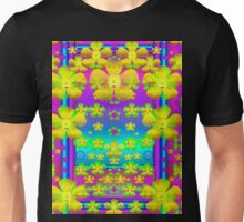 Outside the curtain it is peace florals and love Unisex T-Shirt