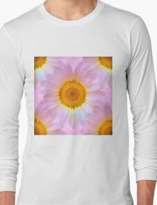 Pink Iridescent Floral Abstract Long Sleeve T-Shirt