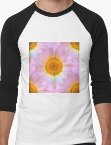 Pink Iridescent Floral Abstract Men's Baseball ¾ T-Shirt