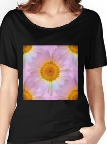 Pink Iridescent Floral Abstract Women's Relaxed Fit T-Shirt