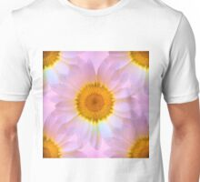 Pink Iridescent Floral Abstract Unisex T-Shirt