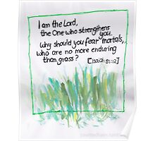 Isaiah 51: Why fear? Poster