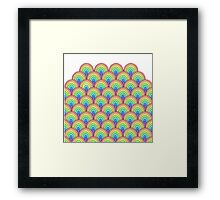 rainbow scallop vector pattern Framed Print