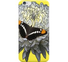 California Butterfly, White Chrysanthemum iPhone Case/Skin