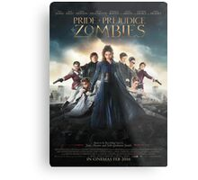 Pride and prejudice and zombies poster Metal Print