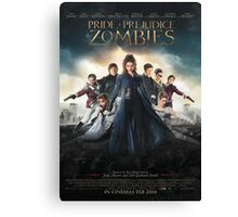 Pride and prejudice and zombies poster Canvas Print