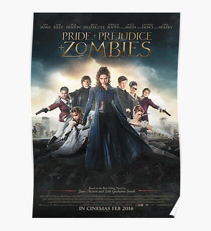 Pride and prejudice and zombies poster Poster
