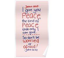 John 14: Peace Poster