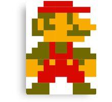 8-bit Mario Canvas Print