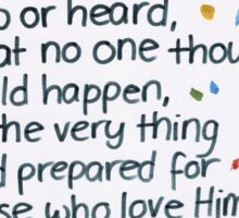 1 Corinthians: Very thing Sticker