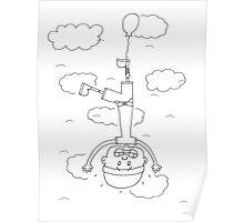 Flying Down or Falling Up Poster