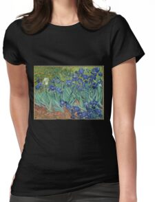 Van Gogh - Irises Womens Fitted T-Shirt