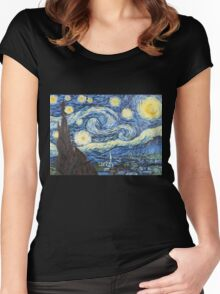 Van Gogh - Starry Night Women's Fitted Scoop T-Shirt