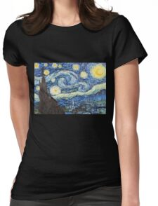 Van Gogh - Starry Night Womens Fitted T-Shirt
