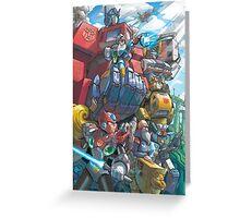 Megaman X Transformers Greeting Card