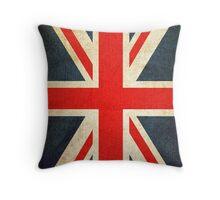 Vintage Union Jack British Flag Throw Pillow
