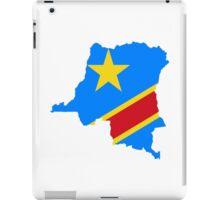 Flag Map of the Democratic Republic of the Congo  iPad Case/Skin
