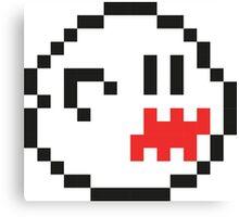 8-Bit Boo Canvas Print