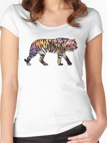 Tiger 1 White Women's Fitted Scoop T-Shirt