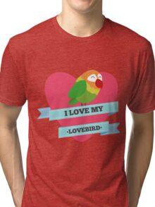 I Love My Lovebird (Green) Tri-blend T-Shirt
