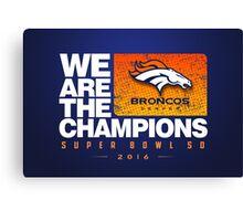 Broncos Champions WATC Canvas Print