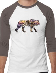 Tiger 1 Black Men's Baseball ¾ T-Shirt