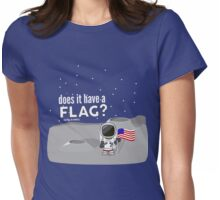 Does it have a flag? Womens Fitted T-Shirt