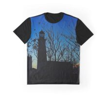 Lighthouse Silhouette | Montauk Point, New York   Graphic T-Shirt