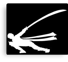 MH4U Long Sword Black Shirt Canvas Print
