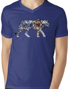 Tiger 2 Black Mens V-Neck T-Shirt