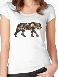Tiger 3 White Women's Fitted Scoop T-Shirt