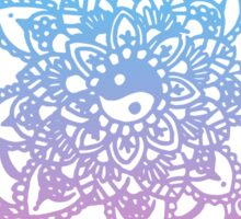 Pink and Blue Ombre Design Sticker