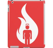 Beer Belly Mens Room Small Logo in White iPad Case/Skin