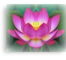 Pink Lotus - Digitally Altered Photography Canvas Print