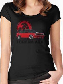 Holden Torana - A9X Hatchback - Red 2 Women's Fitted Scoop T-Shirt