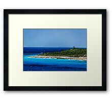 Deep Blue Sea & Beach Framed Print