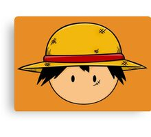Chibi Luffy One Piece Anime Canvas Print