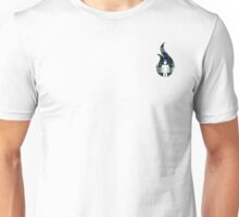 Beer Belly Mens Room Small Logo Green-White- Blue-Plaid  Unisex T-Shirt