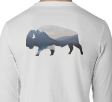 Mountains in the Bison Long Sleeve T-Shirt
