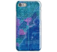 American Revolutionary War Era Maps 1750-1786 353 Bowles's new pocket map of the United States of America the British possessions of Canada Nova Scotia and Inverted iPhone Case/Skin